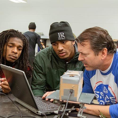 Demarius Hampton, Kyle Duggar and Dr. Doug Knight